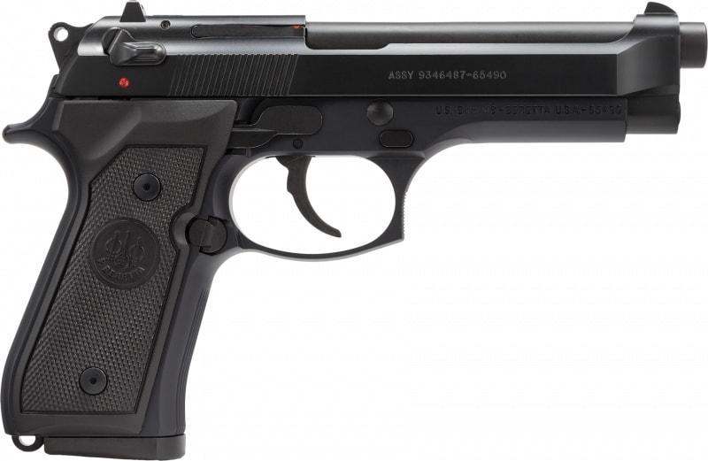 """Beretta J92M9A0 M9 9mm LTD 10+1 4.9"""" Synthetic Black Grip Bruniton Barrel"""
