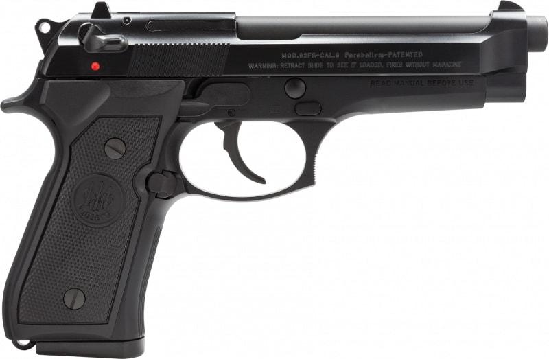 """Beretta JS92F300M 92 FS Italy 9mm 4.9"""" 15+1 Black Synthetic Grip Black"""