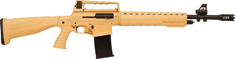 "Iver Johnson Arms GIJAR1512TAN Johnson Stryker 12GA. 3"" 20"" AR-Style 5rd Tan Synthetic Shotgun"