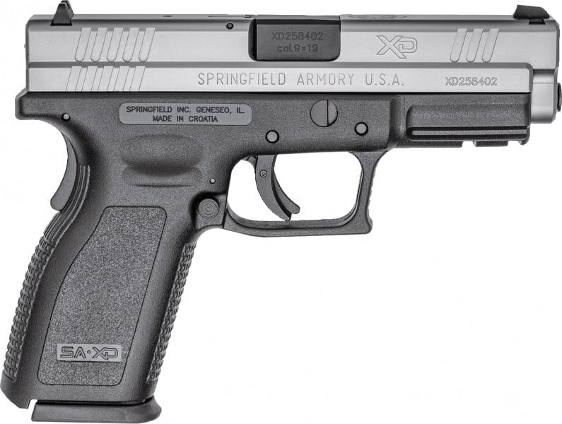 "Springfield Armory XD9301 XD 9mm Bi-Tone *CA Compliant* Single 9mm 4"" Grip"