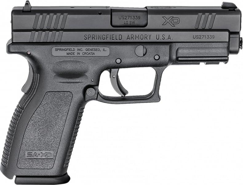 """Springfield XD9302 XD 4"""" Service DAO 40 S&W 4"""" 10+1 Black Poly Grip/Frame SS"""