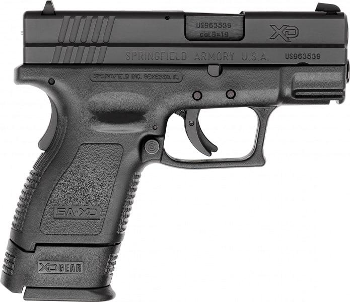 "Springfield XD9801 XD Essential Pkg *CA Compliant* DAO 9mm 3"" 10+1 Poly Grip/Frame Black"