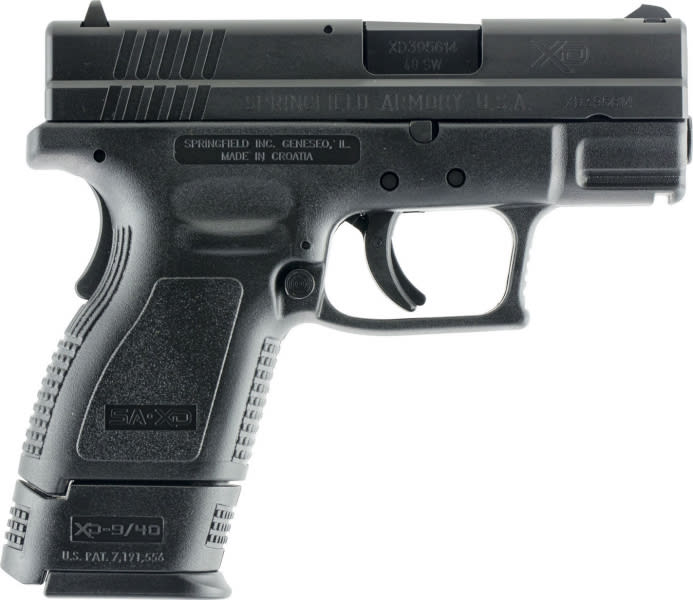 "Springfield XD9802HC XD Essential Pkg 40 S&W 3"" 9+1 Poly Grip/Frame Black"