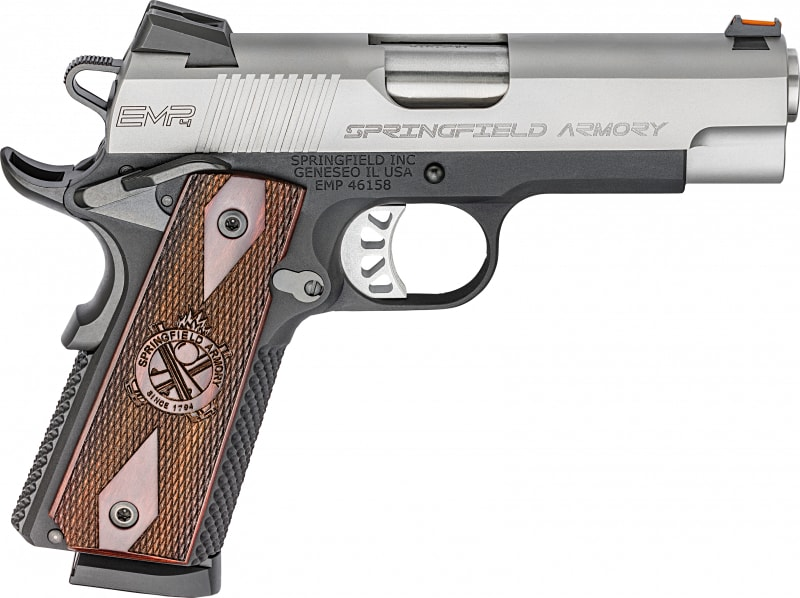 """Springfield Armory PI9242L 1911 Single 40 S&W 4"""" 9+1 Cocobolo Grip Stainless Steel"""