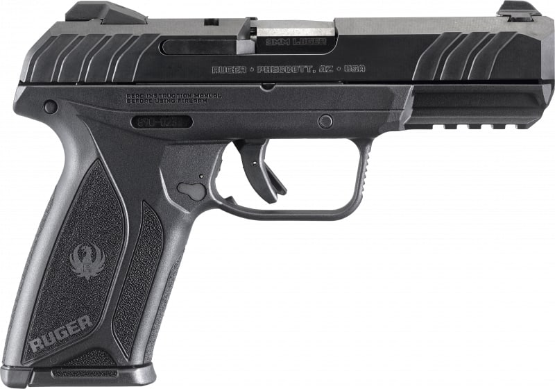"Ruger 3810 Security 9 9mm 4"" BL 15rd"