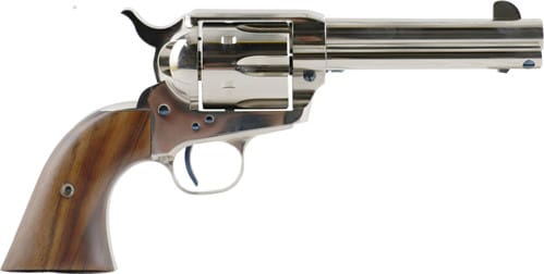 "Standard Manufacturing SAR4N1 MFG SAA 4.75"" Barrel Nickel Plated 1 Piece Grip Revolver"