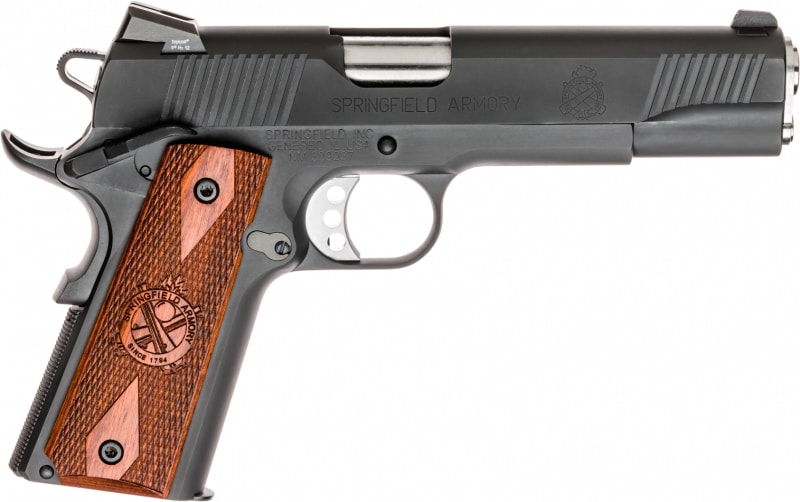 "Springfield Armory PX9109L 1911 Single 45 ACP 5"" 7+1 Cocobolo Grip Black Parkerized"