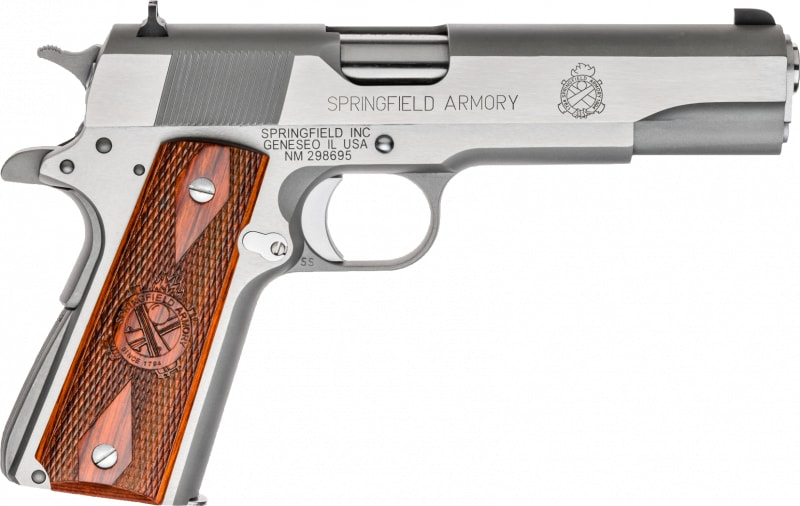 "Springfield Armory PX9151L 1911 Single 45 ACP 5"" 7+1 Cocobolo Grip Stainless"