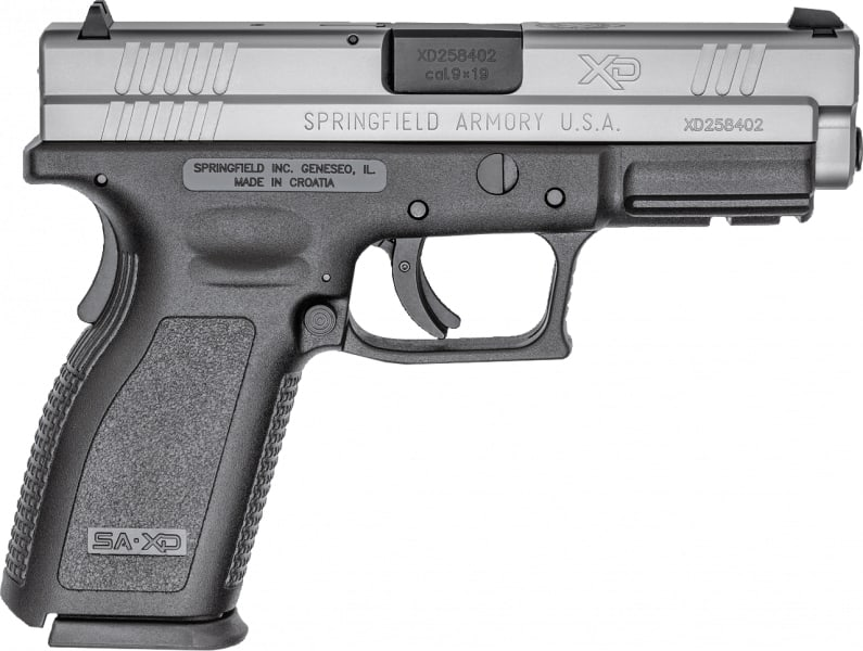"Springfield Armory XD9301 XD 9mm Bi-Tone *CA Compliant* Single 9mm 4"" Grip"