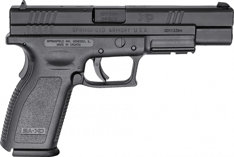 "Springfield Armory XD9401 XD Full Size *CA Compliant* Double 9mm 5"" 10+1 3Dot Black Polymer Grip/Frame Grip Black Melonite"