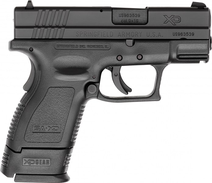 "Springfield XD9801 XD Essential Pkg *CA Compliant* DAO 9mm 3"" 10+1 Poly Grip/Frame Black"