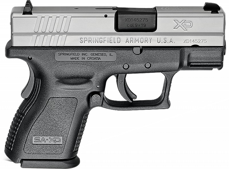 "Springfield Armory XD9821 XD 9mm Bi-Tone *CA Compliant* Single 9mm 3"" 13+1/16+1 with X-Tension Black Polymer Grip Black Polymer"