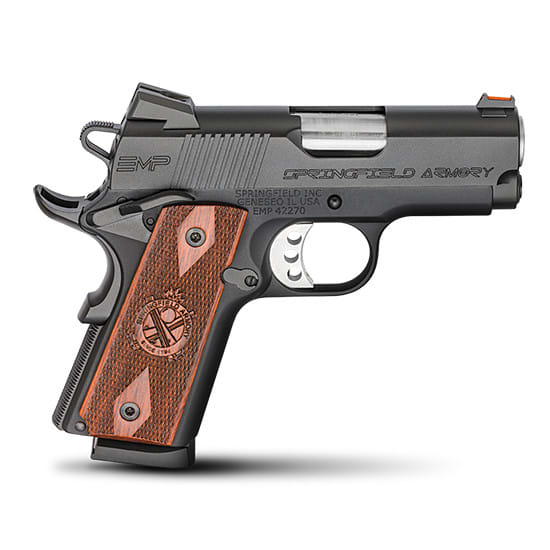 Springfield PI9208L 1911 EMP 9mm Compact ALL Black Cocobolo Grips