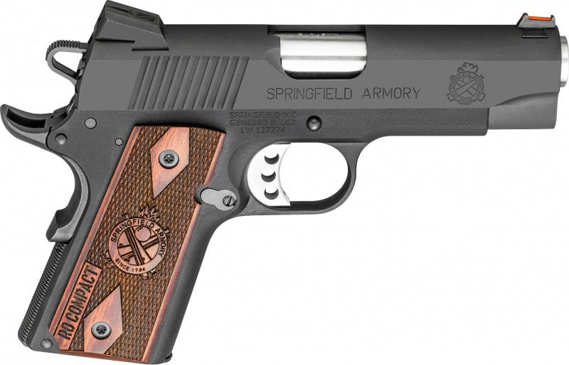 "Springfield Armory PI9125L 1911 Single 9mm 4"" 8+1 Rosewood Grip Black Parkerized"