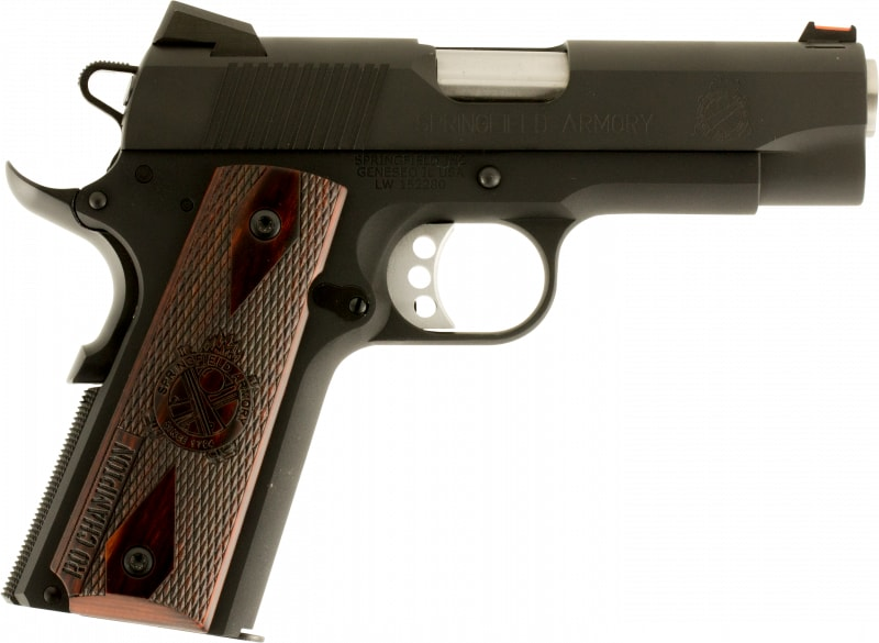 "Springfield Armory PI9136L 1911 Single 45 ACP 4"" 7+1 Cocobolo Grip Black Parkerized"