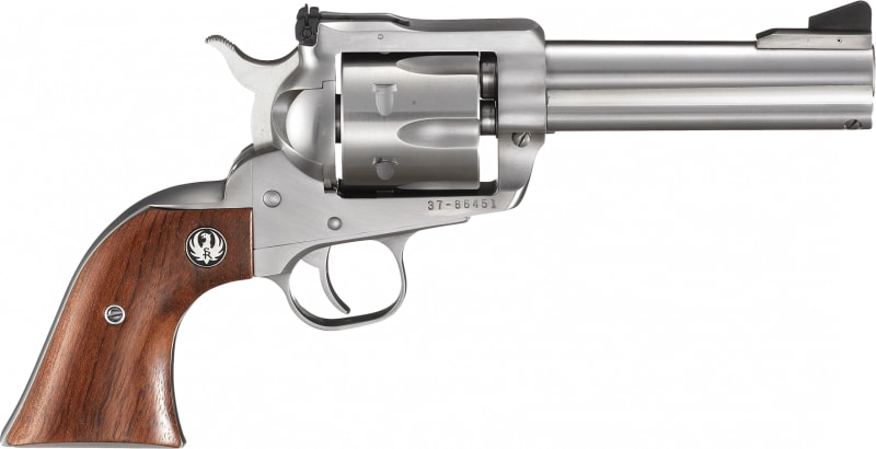 """Ruger 0309 Blackhawk Stainless Single .357 4.6"""" 6 Hardwood Stainless Revolver"""