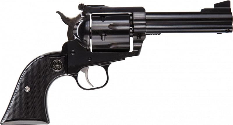 """Ruger 0445 Blackhawk Blued Single .45 LC 4.6"""" 6 Black Rubber Blued Revolver"""