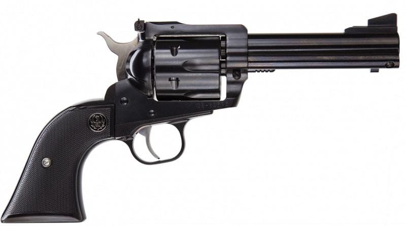 "Ruger 0446 Blackhawk Convertible Single .45 ACP 4.6"" 6 Black Rubber Blued Revolver"