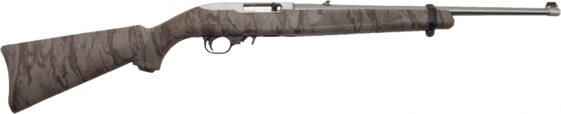 "Ruger 1286 10/22 Carbine Semi-Auto 22 Long Rifle 18.5"" 10+1 Synthetic Natural Gear Camo Stock Stainless Steel"