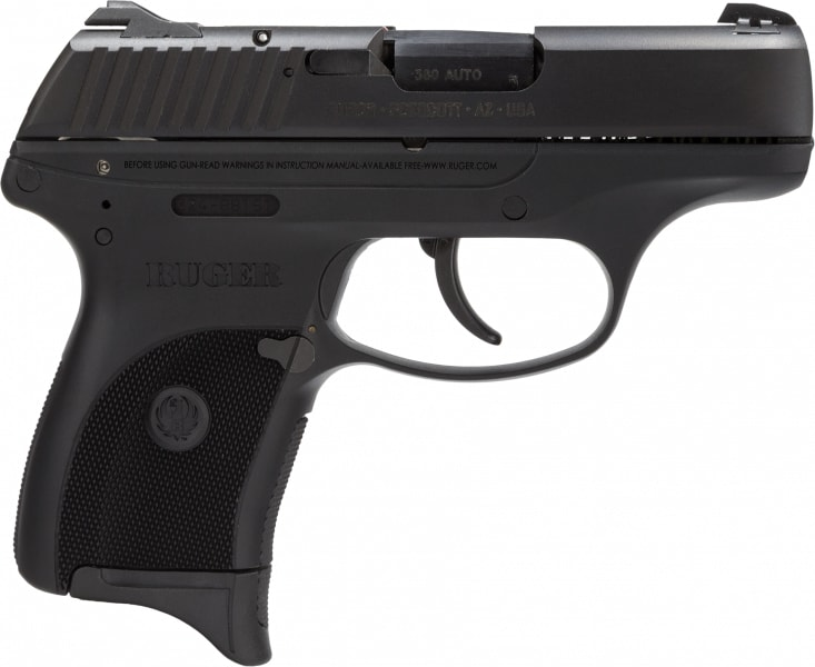 "Ruger 3219 LC380 Standard 380 ACP 3.12"" 7+1 Black Checkered Grip Blued"