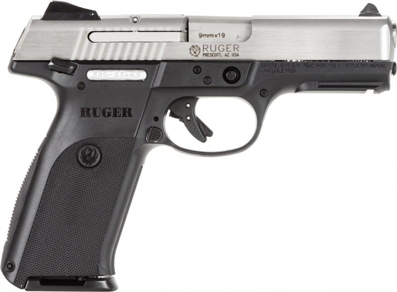 """Ruger 3309 KSR910L Standard DAO 9mm 4.1"""" 10+1 AS Black Poly Grip Brushed SS Slide"""