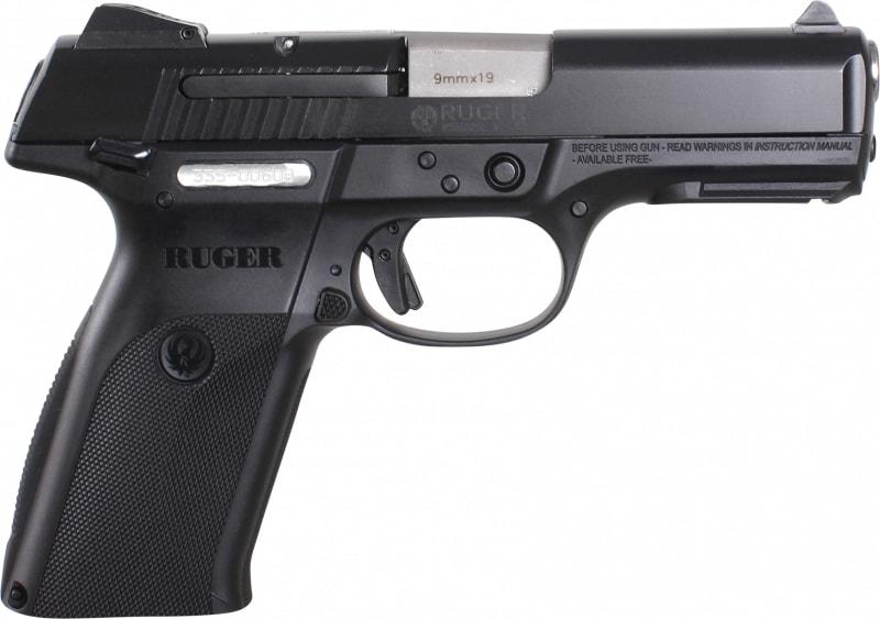 """Ruger 3312 SR9B10L Standard DAO 9mm 4.1"""" 10+1 Black Poly Grip Black Nitride Slide"""