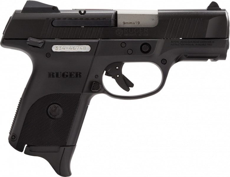 "Ruger 3317 BSR9C10L Compact DAO 9mm 3.4"" 10+1 Black Alloy Steel Black Poly Grip"