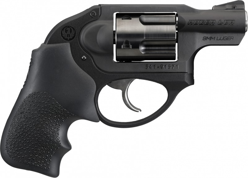 "Ruger 5456 LCR Standard Double 9mm 1.87"" 5 Hogue Tamer Monogrip Black Stainless Steel Revolver"