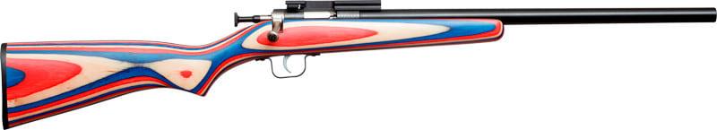 Crickett GKSA2126 Rifle G2 .22LR Red Whiteblue LAM Threadeded Bull BBL