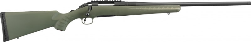 "Ruger 16953 American Predator Bolt 6.5 Creedmoor 22"" 4+1 Synthetic Green Stock Black"