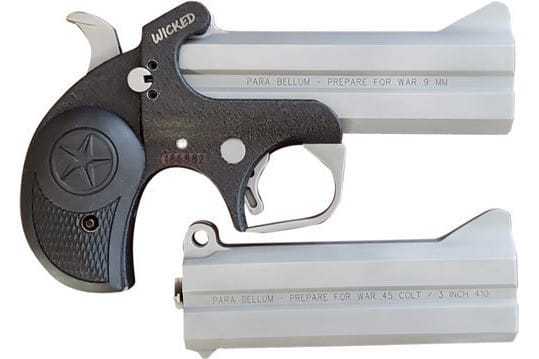 """Bond Arms BAJW9MM Arms Wicked 9mm 4.25"""" AND Extra Barrel SS"""