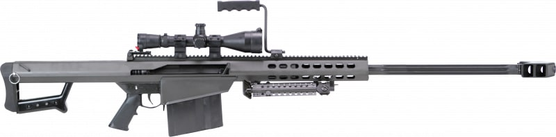 "Barrett 13317 M82 A1 with Scope Semi-Auto .50 BMG 29"" FB 10+1 Fixed Metal Black Phosphate"