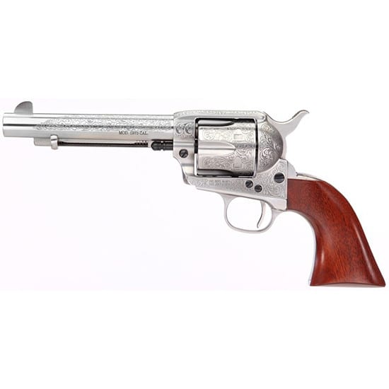 Taylors and Company 713AWE Uberti 1873 Cattleman .357 Magnum Floral Engraved Revolver