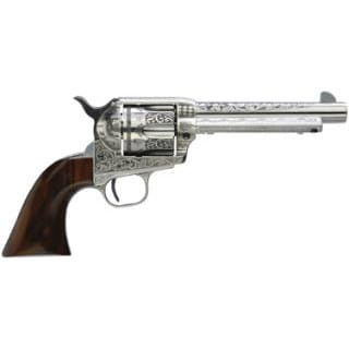 Taylors and Company 701AWE Uberti 1873 Cattleman 45LC 5.5 Photo Engr WHT Revolver