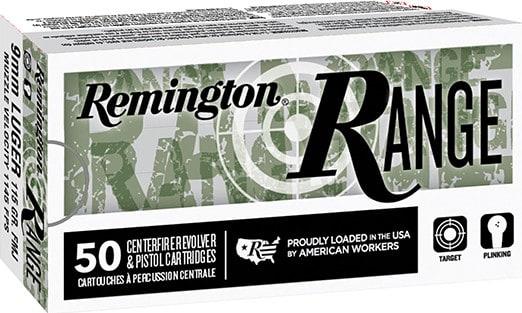 Remington 28564 T9MM3 9mm LUG 115FMJ - 50 Round Box