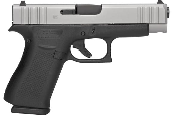 Glock 48 Semi-Auto Slim Conceal Carry Pistol 9mm 10rd Black Frame/Silver Slide - PA485SL201