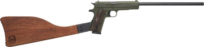 "Iver Johnson Arms IJ01ODRIFLE Johnson 1911A1 Rifle 16"" FS OD Green Wood"