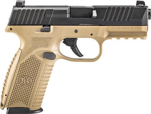 FN 66100357 509 NMS 17rd FDE/Black