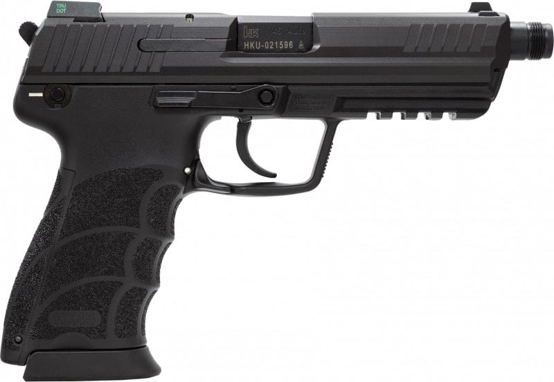 "HK 745001TA5 HK45T Tactical DA/SA NS 10rd 5.2"" Poly Grip/Frame Black"