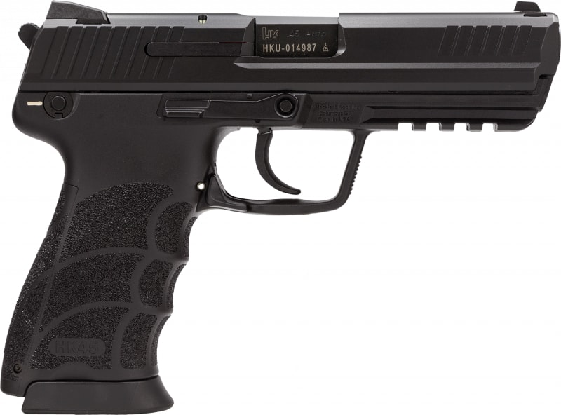 "H&K 745031A5 HK45C DA/SA 8+1 3.9"" Black Synthetic Grip Black Polymer Frame"
