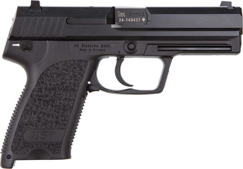 "HK M709001A5 USP9 V1 DA/SA 4.25"" 15+1 Black Polymer Grip/Frame Grip Blued Steel"