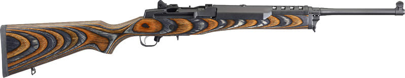 Ruger 5886 MINI-14 Laminated Chevron BROWN/BLACK Stock Blue
