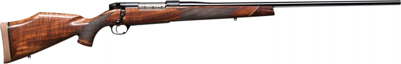 "Weatherby MDXM340WR6O Mark V Deluxe Bolt 26"" 3+1 Walnut Stock Blued"
