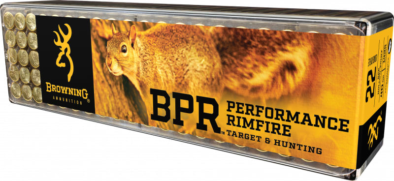 Browning Ammo B194122100 BPR Performance 22 Long Rifle 40 GR Lead Hollow Point 1000 Total - 1000rd Case