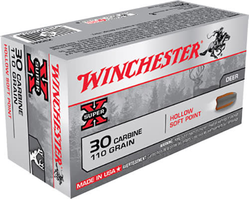 Winchester Ammo X30M1 Super-X 30 Carbine 110  GR Hollow Soft Point - 50rd Box