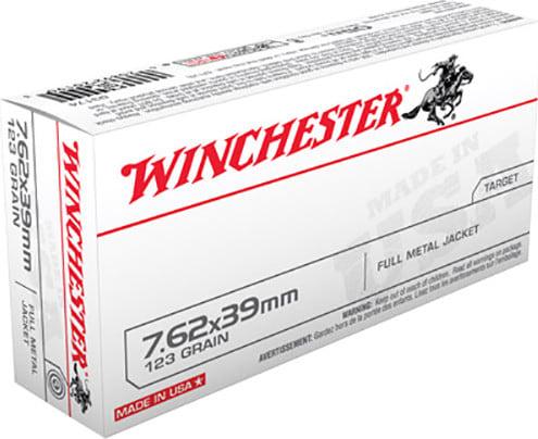 Winchester Ammo Q3174 Winchester Rifle 7.62x39mm 123  GR Full Metal Jacket - 20rd Box