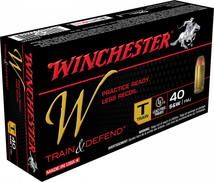 Winchester Ammo W40SWT W 40 Smith & Wesson 180 GR Full Metal Jacket - 50rd Box