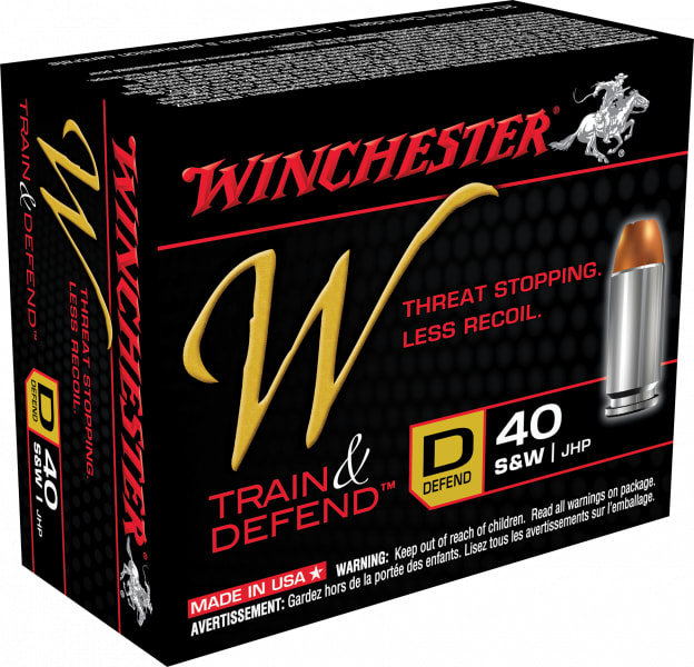 Winchester Ammo W40SWD W 40 Smith & Wesson 180 GR Jacketed Hollow Point - 20rd Box