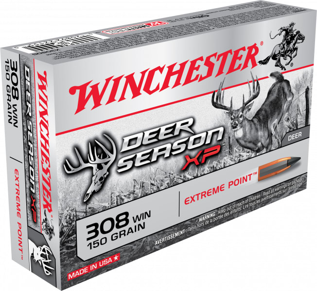 Winchester Ammo X308DS Deer Season XP 308 Winchester/7.62 NATO 150 GR Extreme Point - 20rd Box