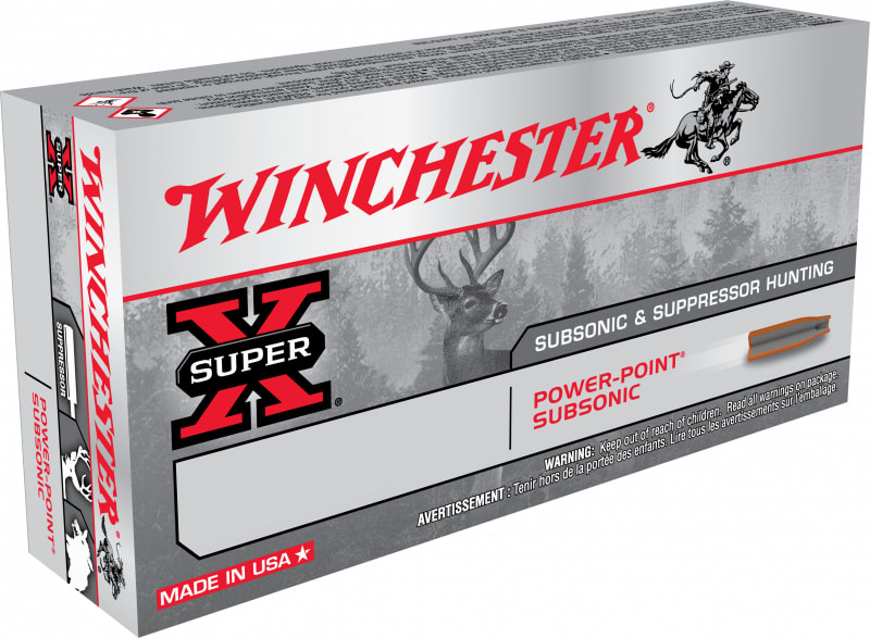 Winchester Ammo X308SUBX Super-X 308 Win/7.62 NATO 185 GR Hollow Point SubSonic - 20rd Box
